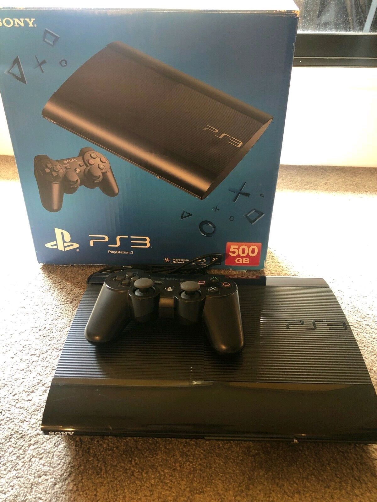 Sony Ps3 500gb super slim R2499 complete console with 1 free game