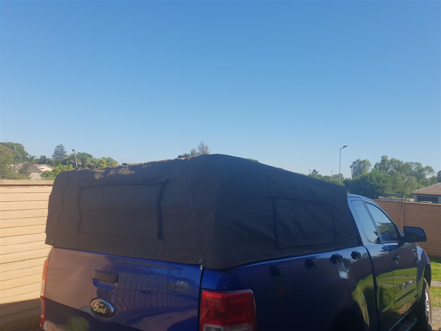 Ford Ranger Cattle Rail and Canvas Cannopy