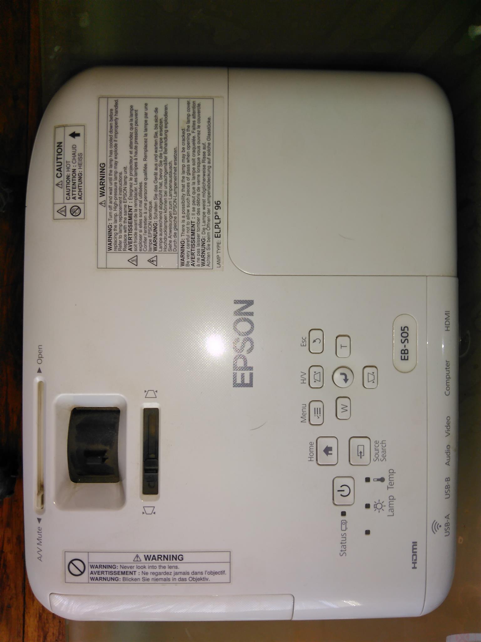 Epson projector EB-SO5 hdmi