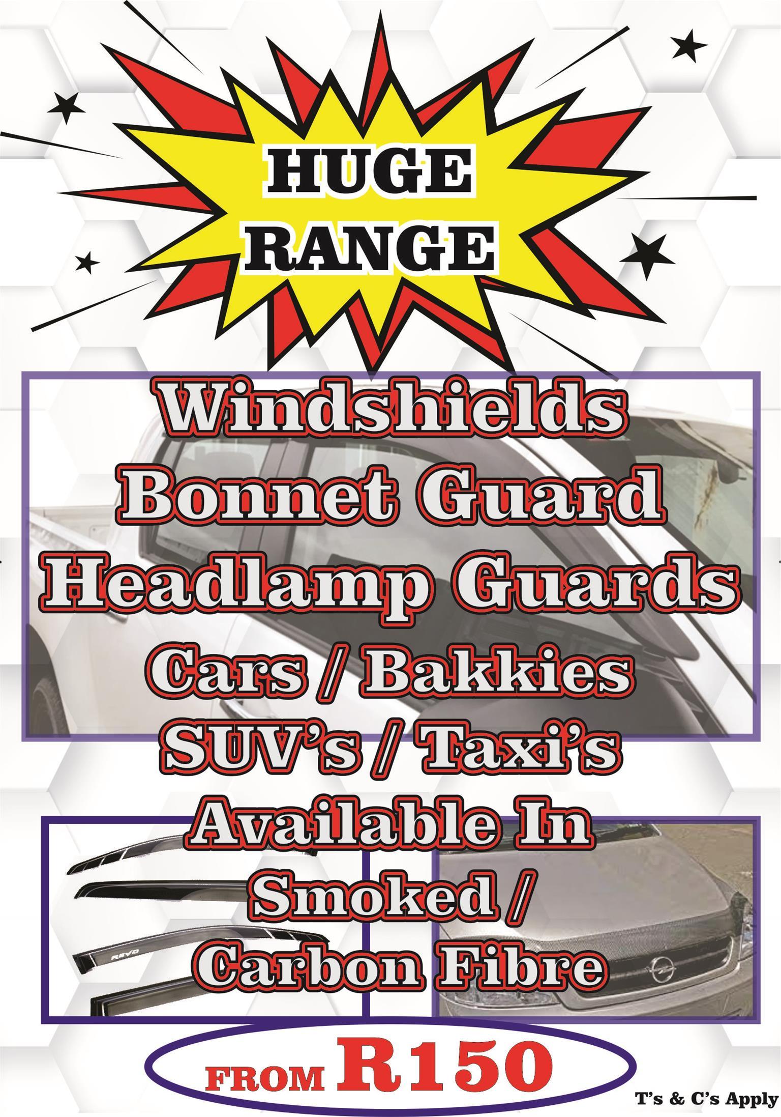 Windshields / Bonnet Guards / Head Lamp Trims / tail Lamp Trims