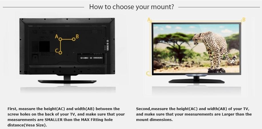 "TV Wall Mount Bracket, Flat Panel TV Wall Bracket 14"" ~ 42"" inches. Brand New"