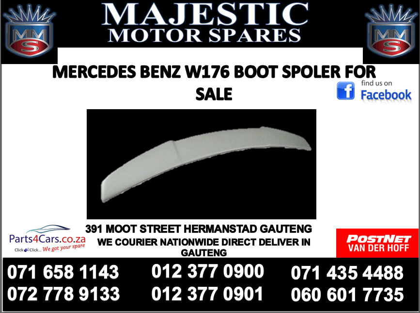 Mercedes benz w176 boot spoiler for sale