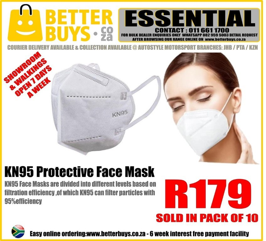 KN95 Protective Face Mask – Pack of 10 R179  KN95 Face Masks
