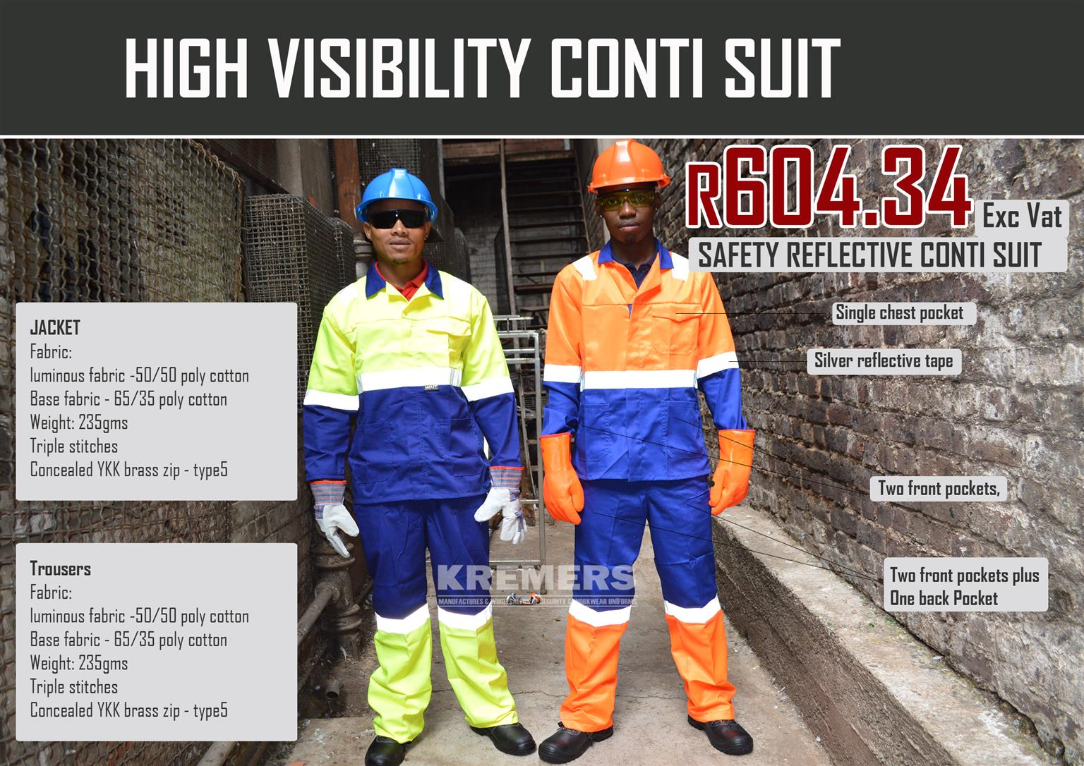 SAFETY REFLECTIVE CONTI-SUIT