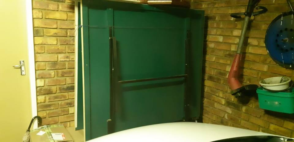 Large green fold up table for sale