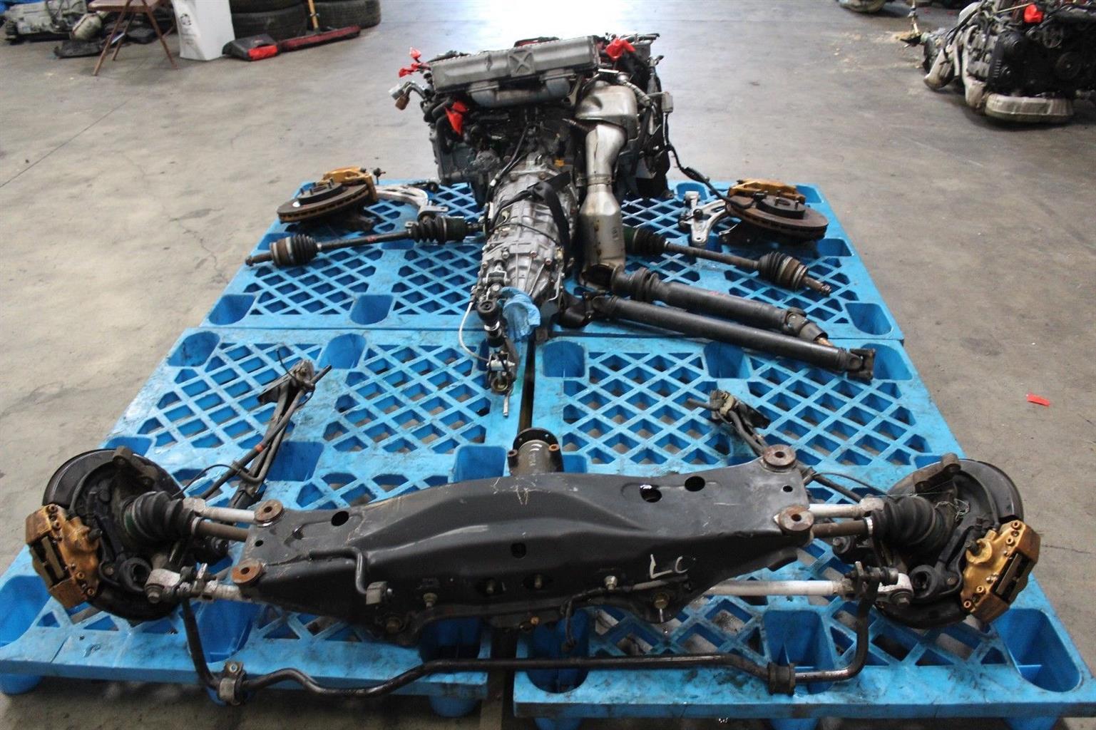 Subaru WRX STi 06 07 V9 EJ207 Turbo Engine DCCD Transmission Rear Diff Axles