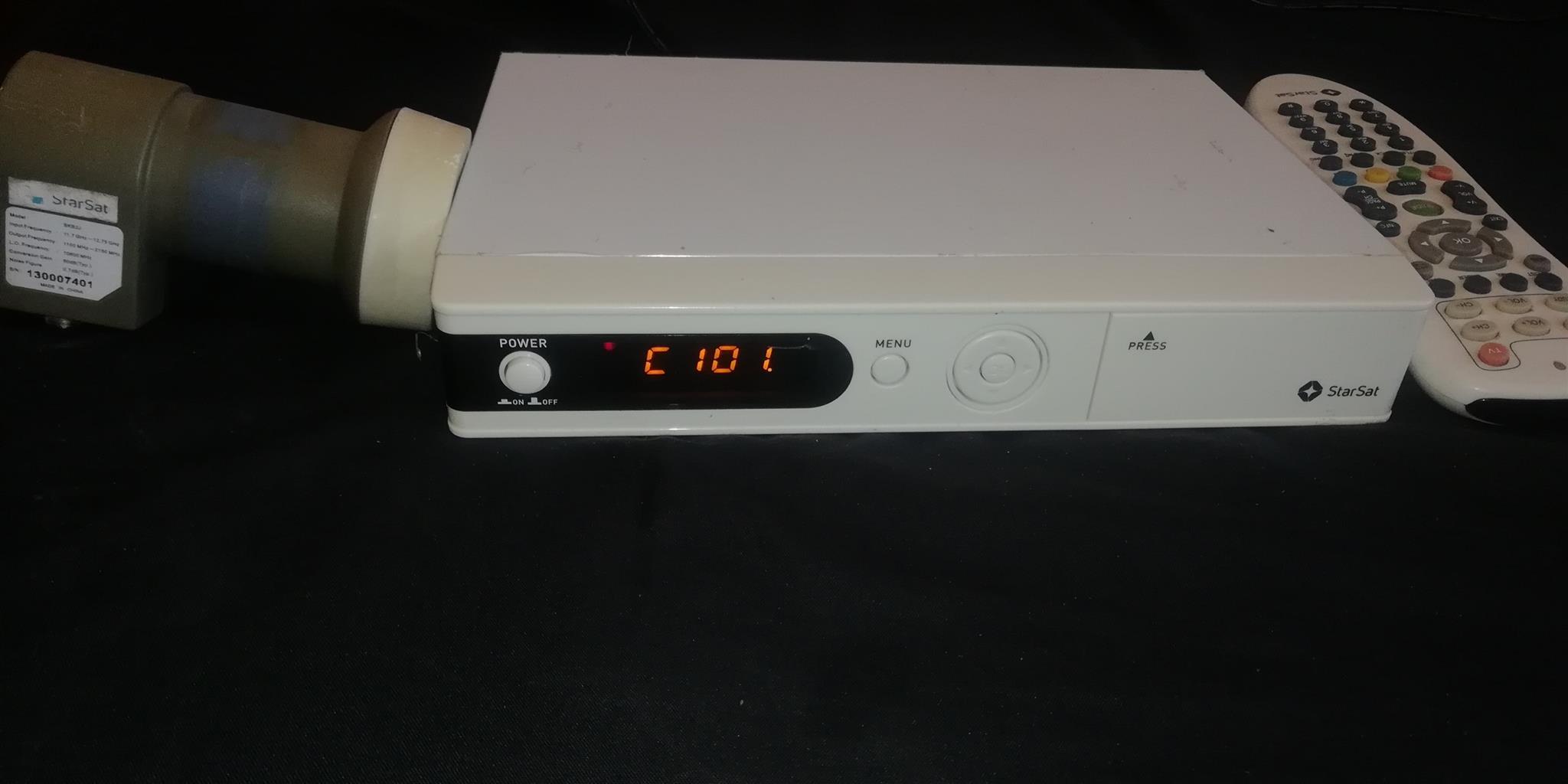 HD Starsat decoder complete with satellite dish