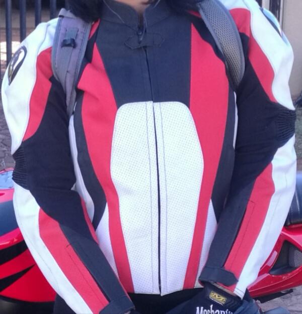 Ladies Leather Sport Bike Jacket