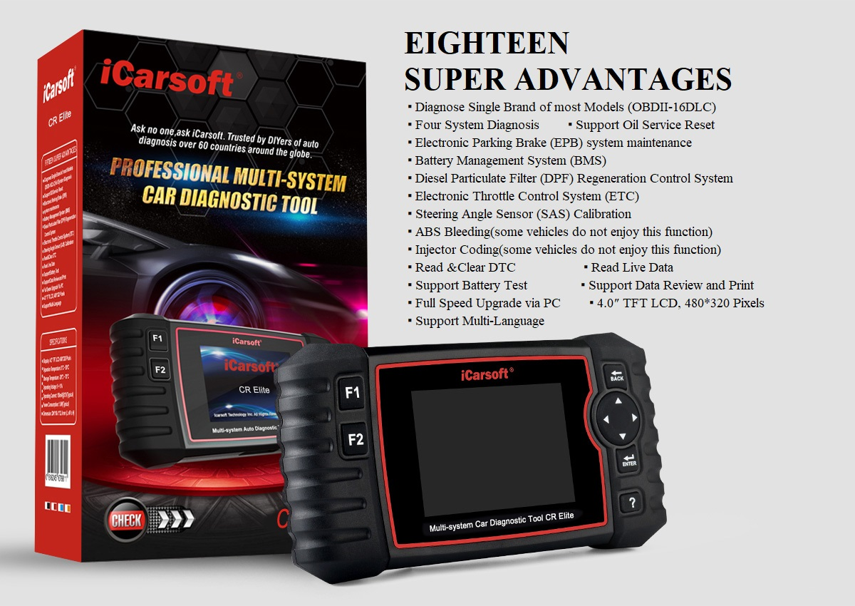 Car diagnostic ICarSoft CR Elilte Multifunction now in Stock!!