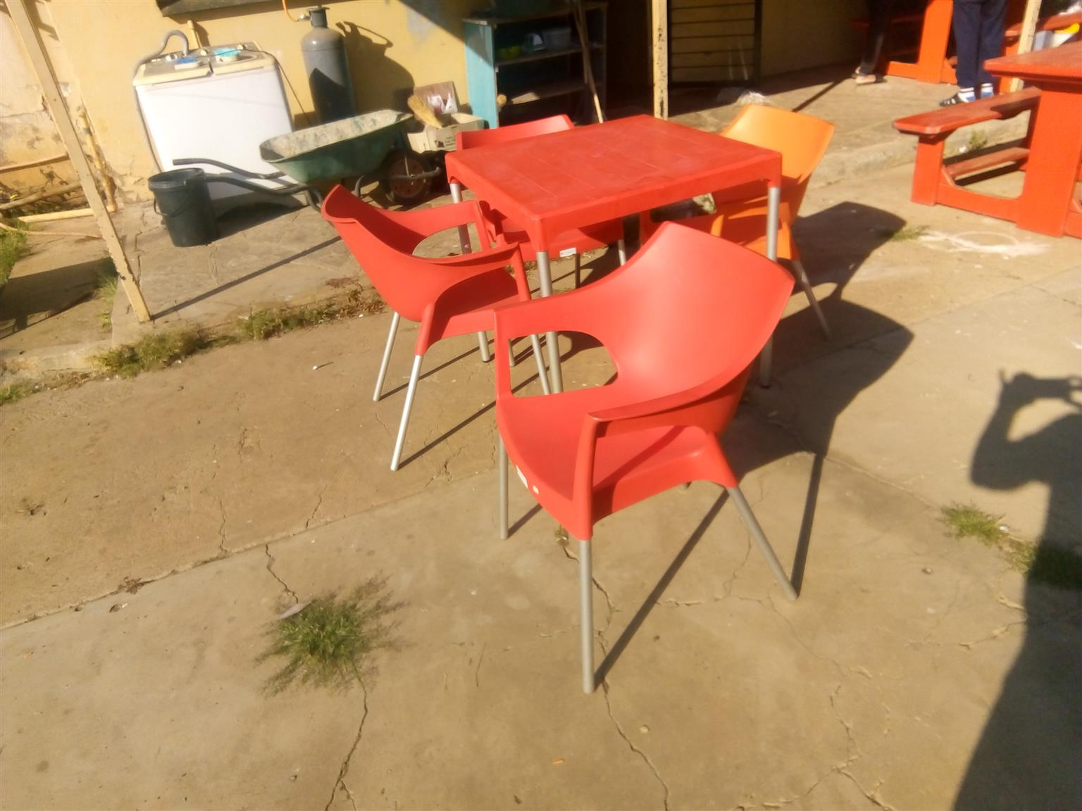 Restaurant plastic Chairs and tables