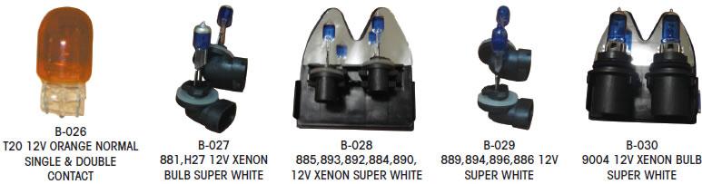 We sell everything from bulbs, hologen,fog lamp. horns, fuses, silicones, gauges led, bampers, car badges, smd, gear frames, brake covers, filters etc