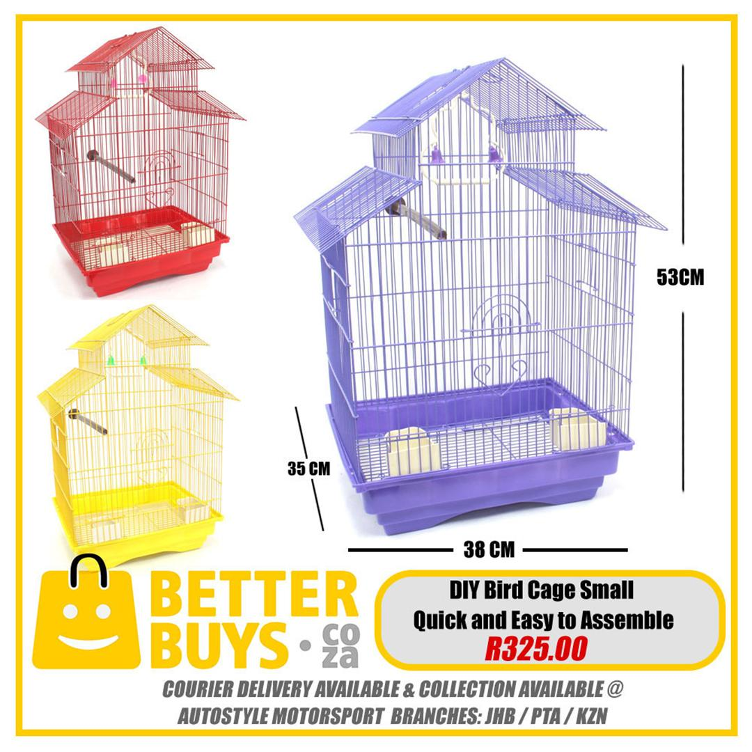 Bird cages, assorted sizes, aviary, mesh