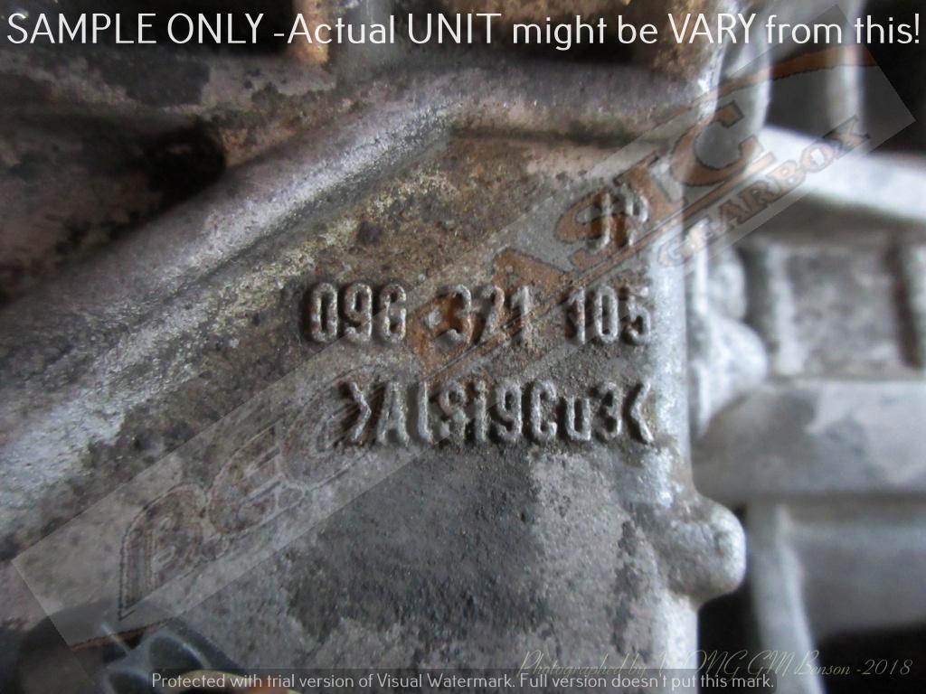 AUDI AUQ 1.8 TURBO 09G 2WD AUTO FF GEARBOX -TT