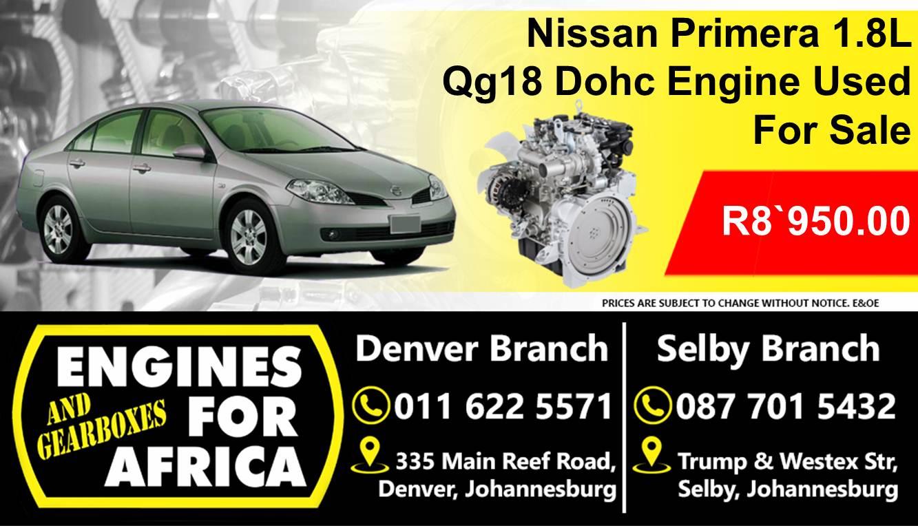 Nissan Primera 1.8L Dohc Qg18 Engine Used For Sale