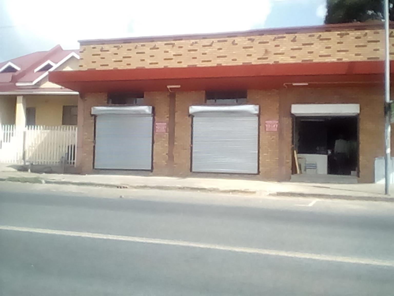 Krugersdorp. Retail space to let in main road. Suitablefor Bottle store, Pawn shop etc.