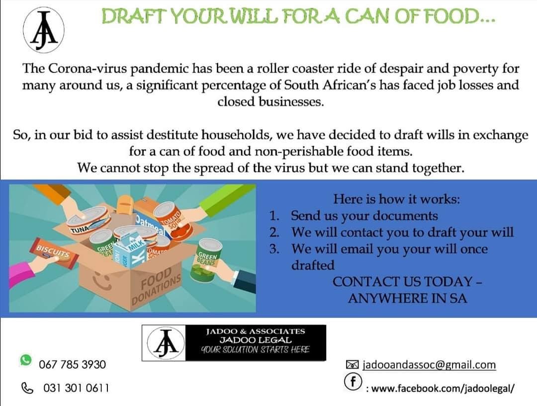 Contact us to have your will drafted