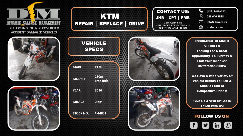 2016 KTM 250 EXC-F