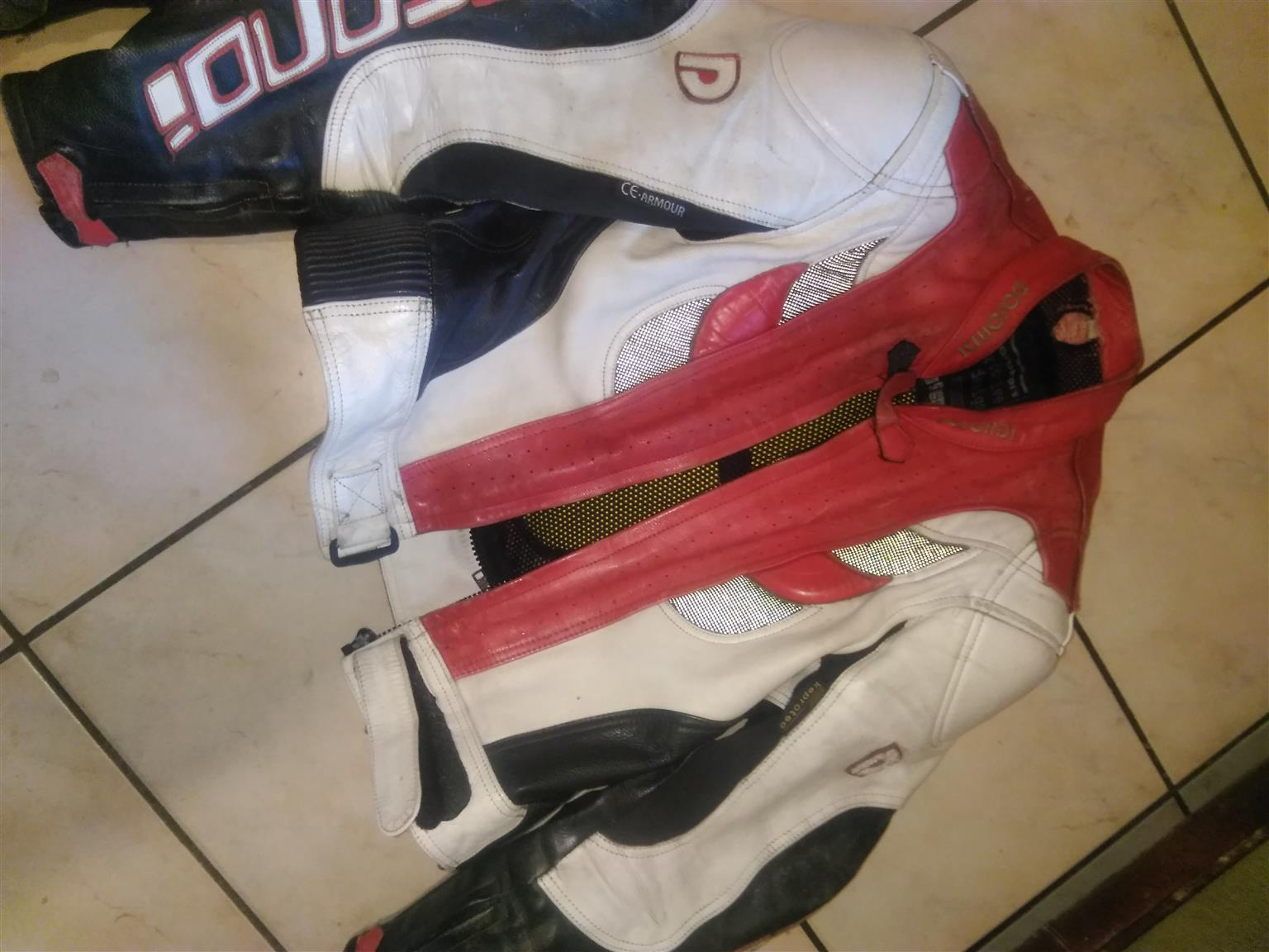Leather 2 piece bike suit