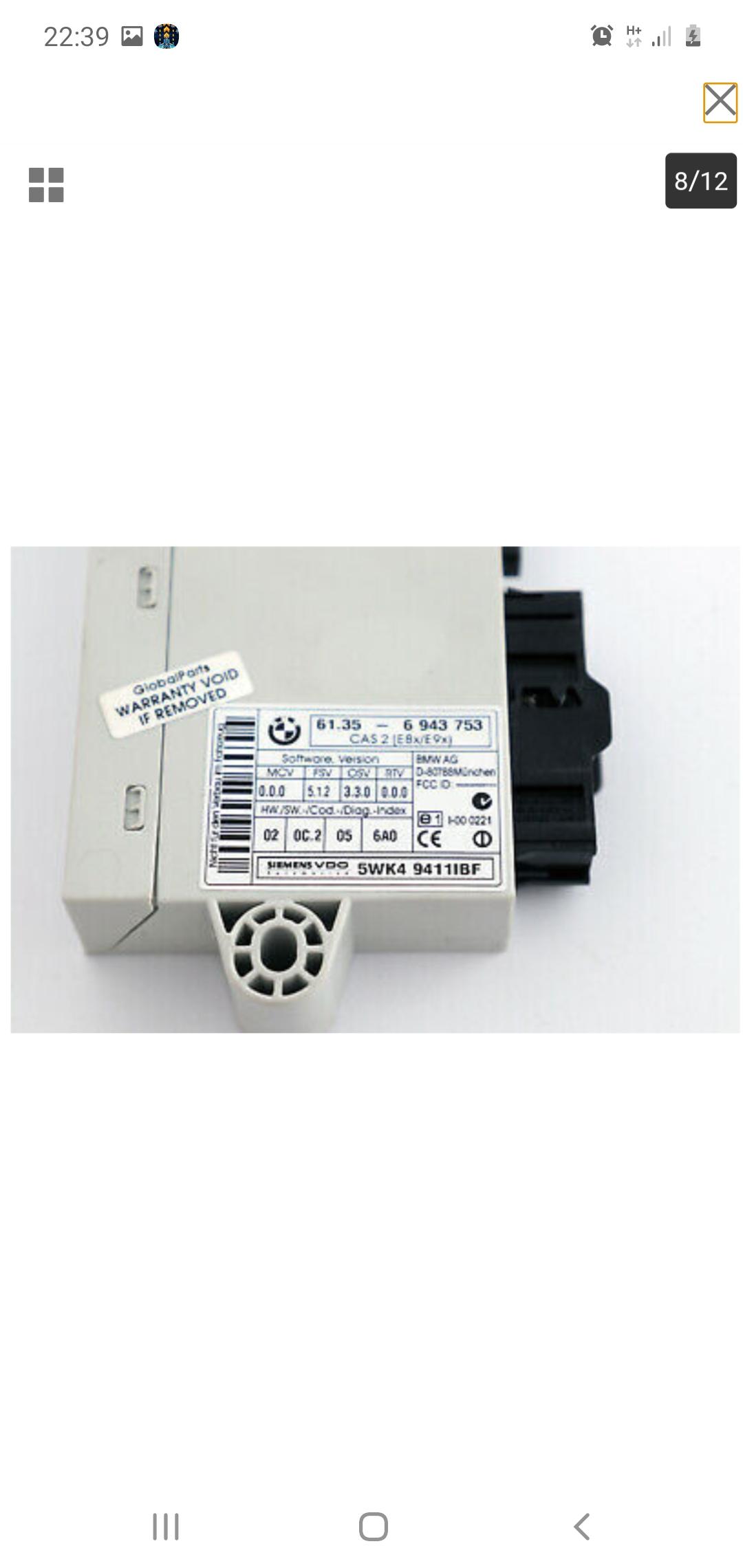 BMW E90 320i N46 petrol Manual lock set with 2 keys