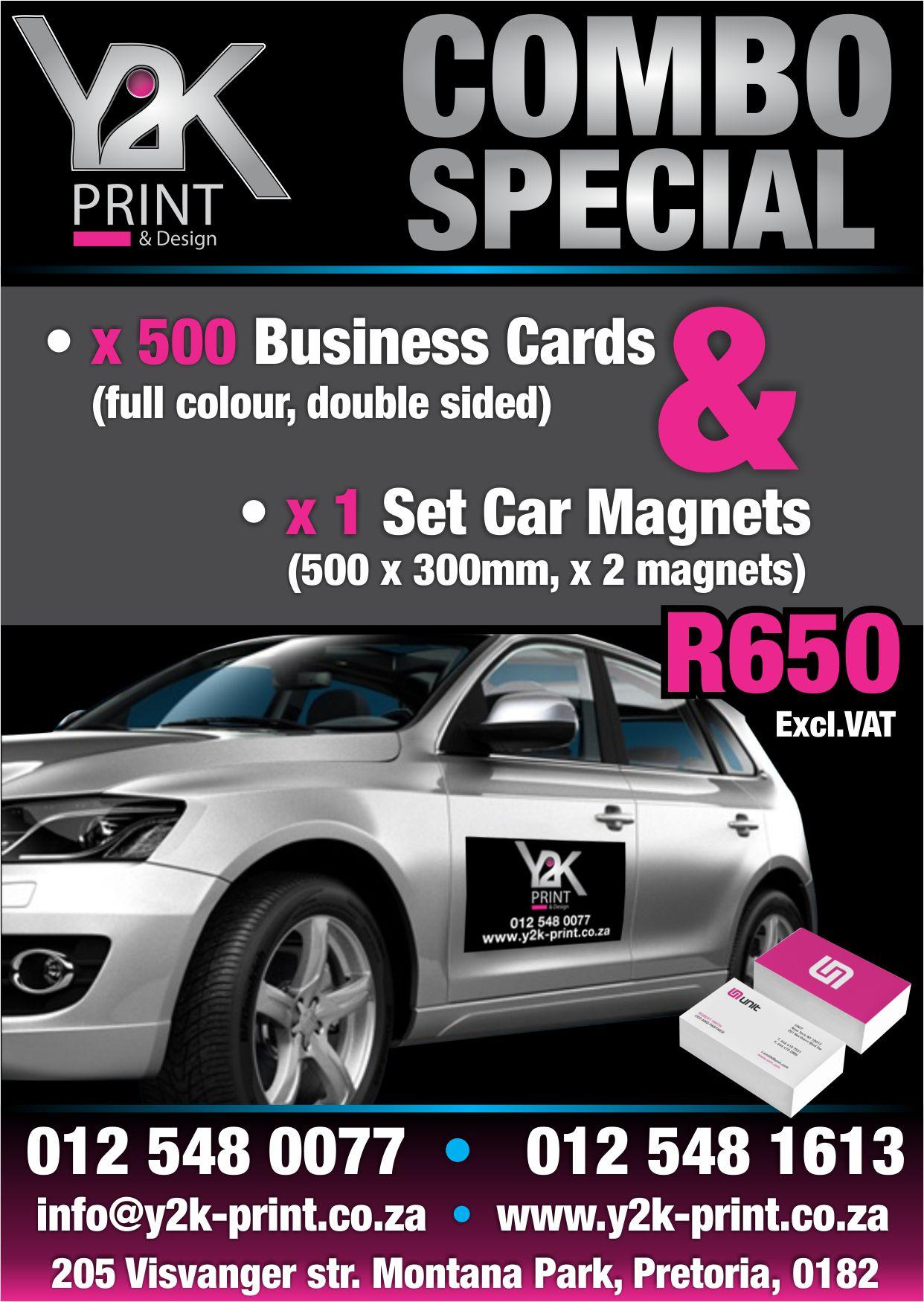 Business cards and car magnets special at y2k print junk mail business cards and car magnets special at y2k print reheart Image collections