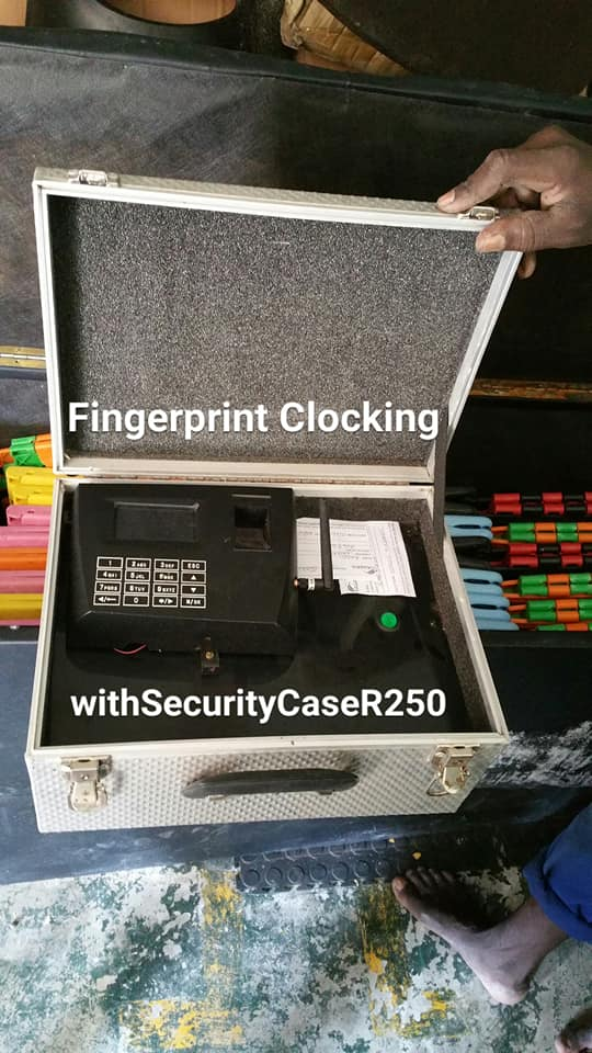 Finger print clocking with security case