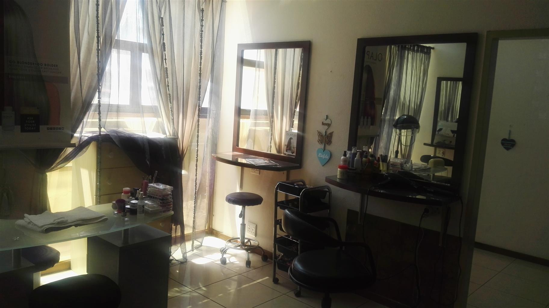 A beauty salon for sale