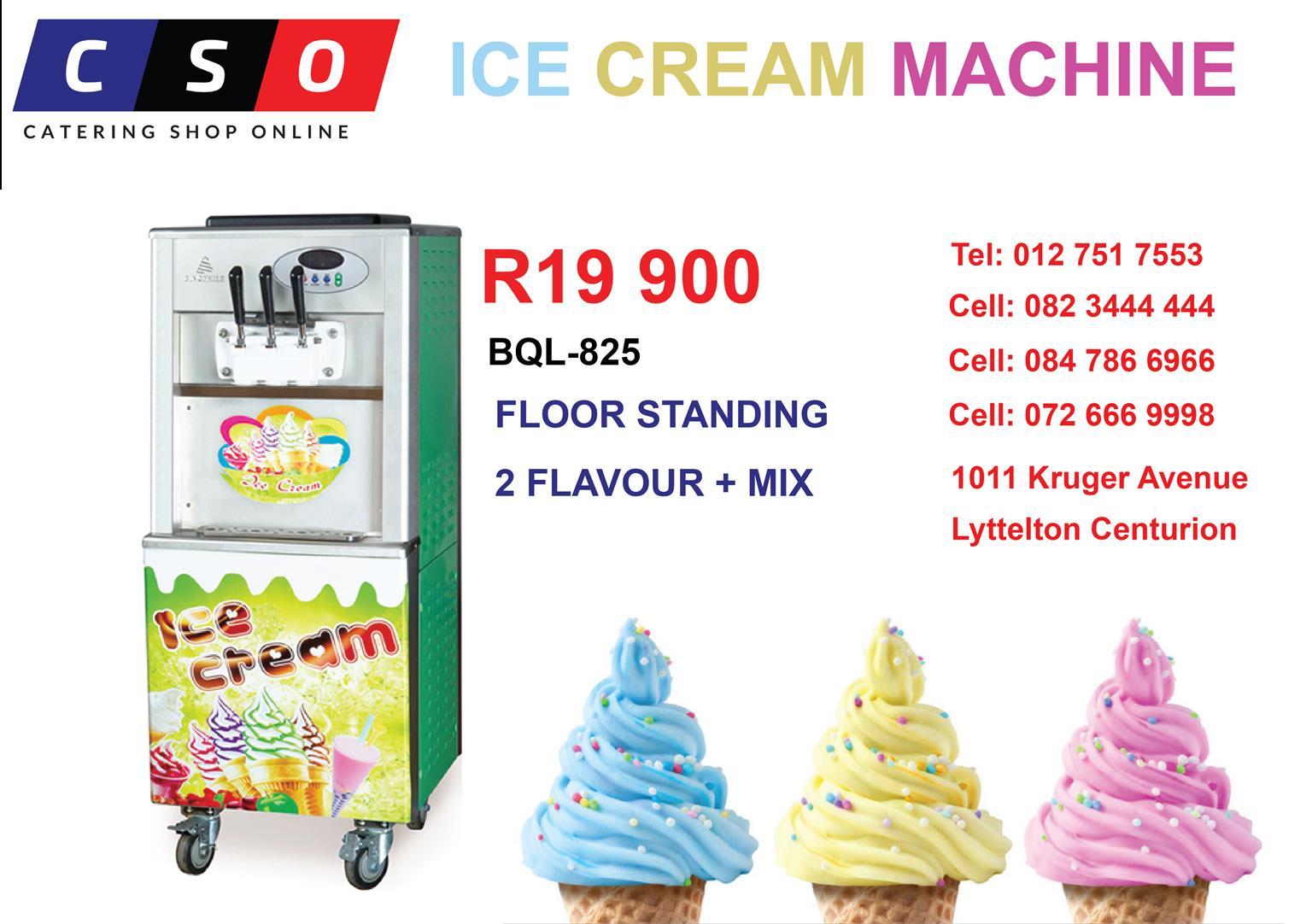 Ice Cream Machine 2 Flavour + Mix Floor Standing