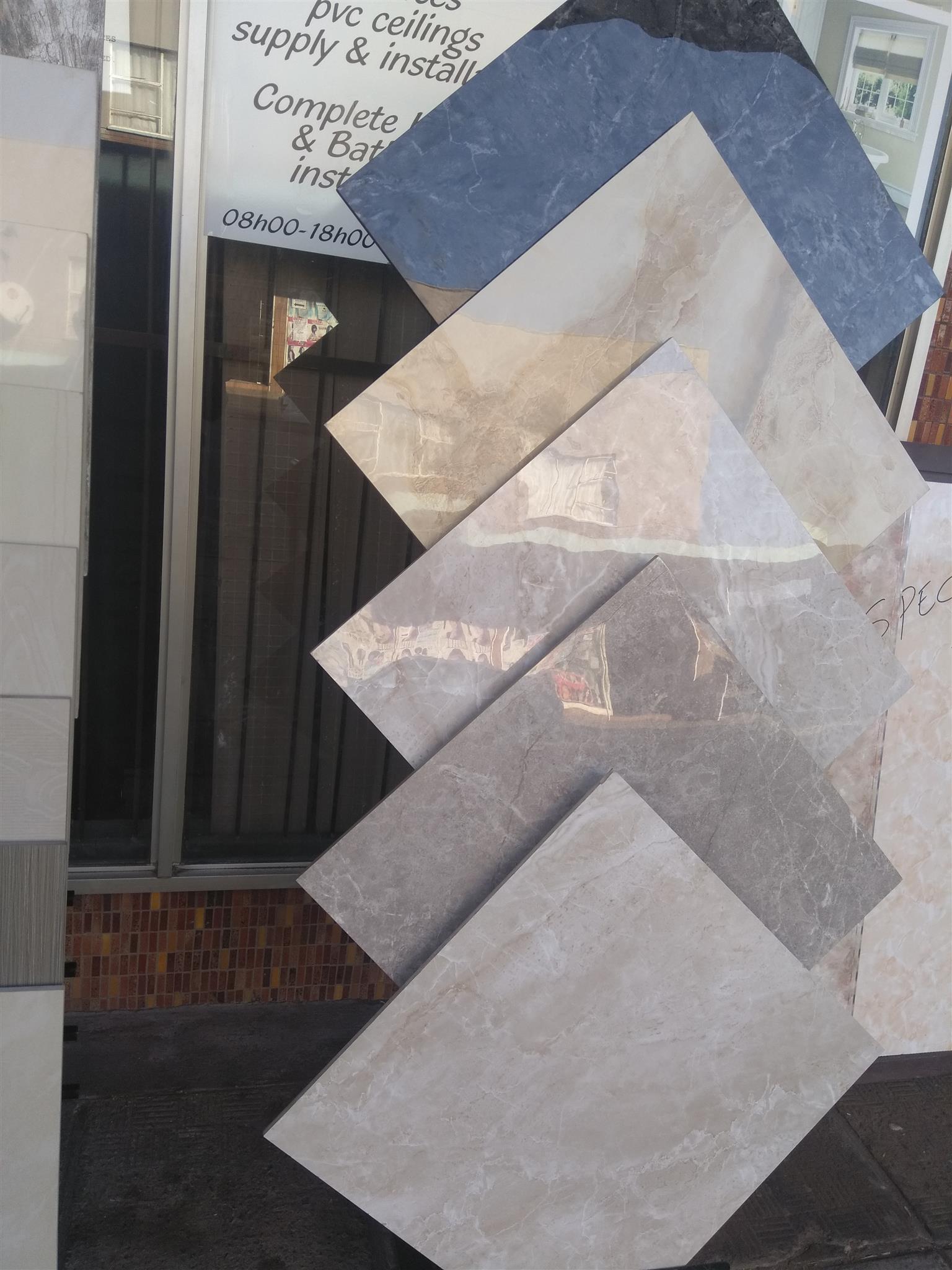 Porcelain Tiles And Pvc Ceilings Promotion