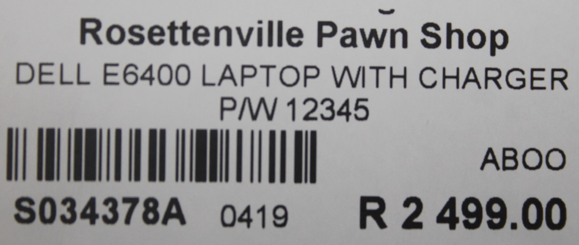 S034378A Dell E6400 laptop with charger #Rosettenvillepawnshop