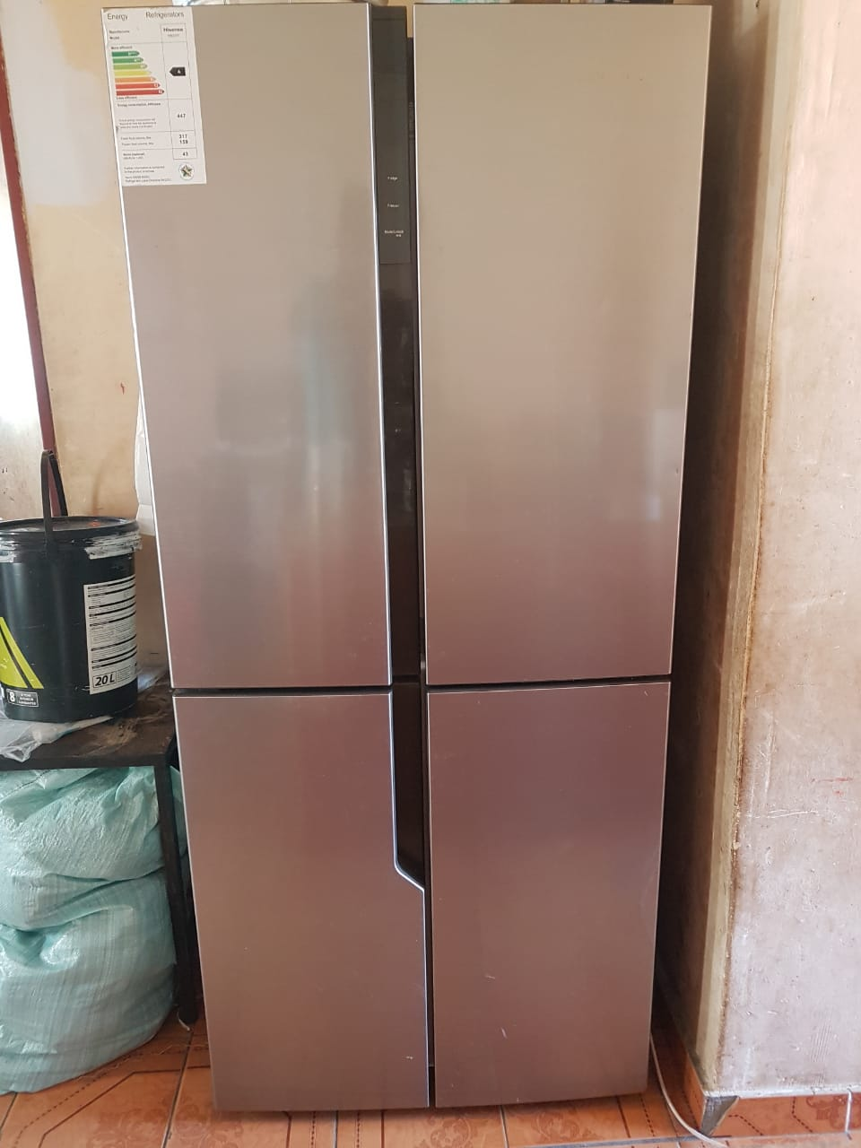 Metallic finish Hisense french door fridge