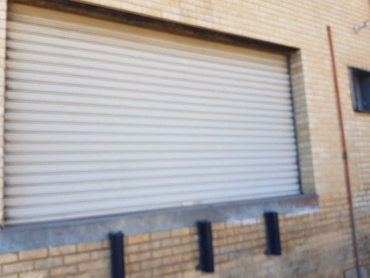4 x 5m industrial rollers shutter doors.