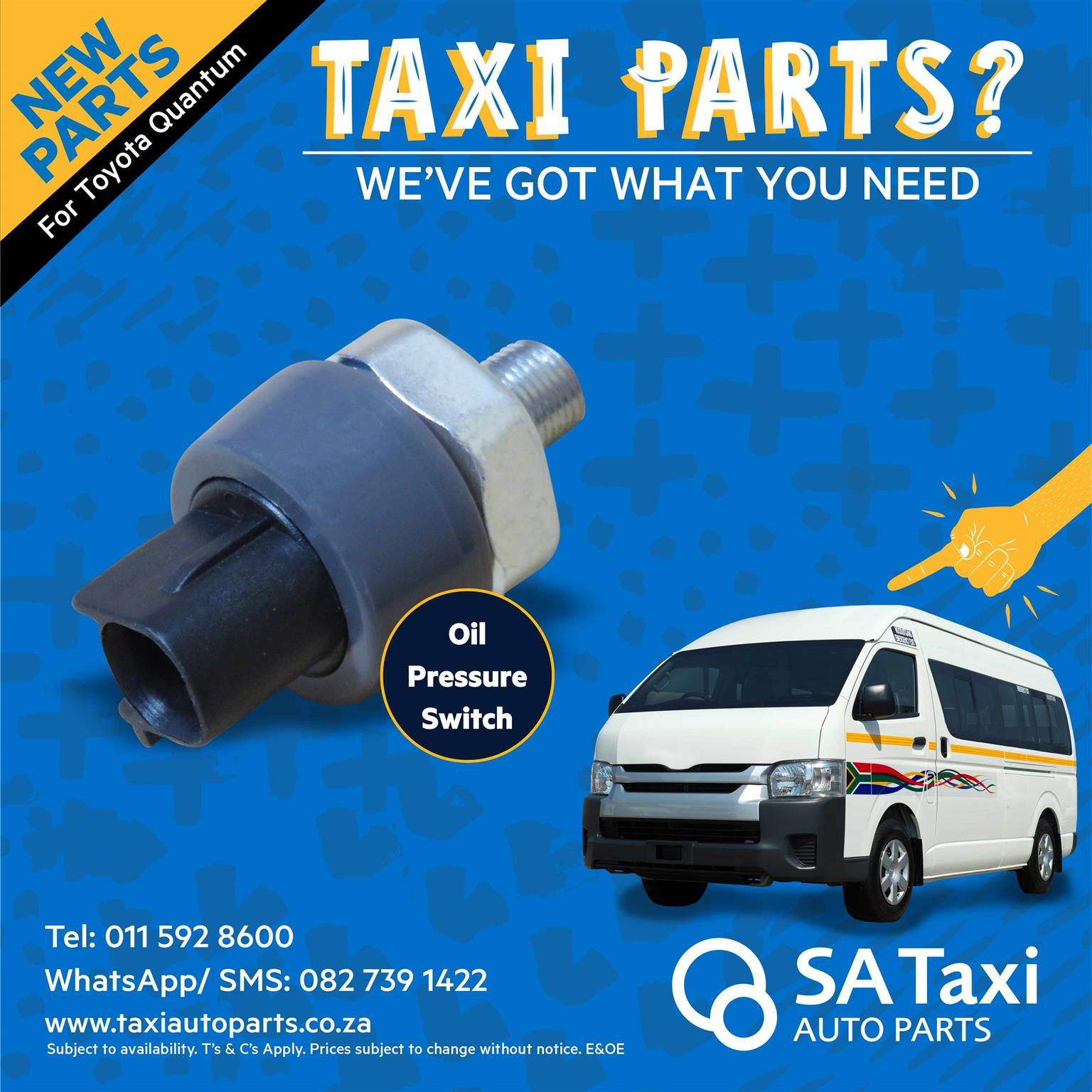 NEW Oil Pressure Switch suitable for Toyota Quantum - SA Taxi Auto Parts quality spares