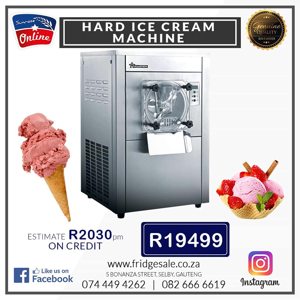 HARD ICE CREAM MAKER FOR SALE – GELATO ICE CREAM MACHINE – SORBET MACHINE – FROZEN YOGURT MAKER