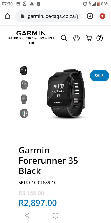 Garmin forerunner 35 and s60 approach
