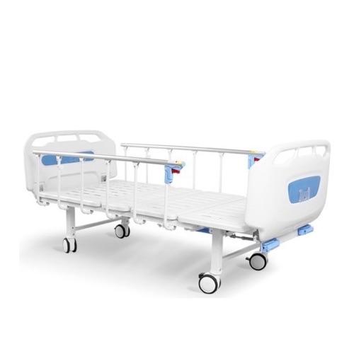 2 Crank Manual Hospital Bed - Backrest and Legrest Adjustable with lockable Castors. ON SALE