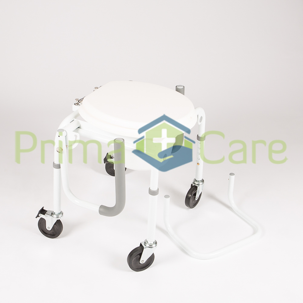 Drop Arm Commode with wheels - ON SALE - Now Only R1199.  WHILE STOCKS LAST
