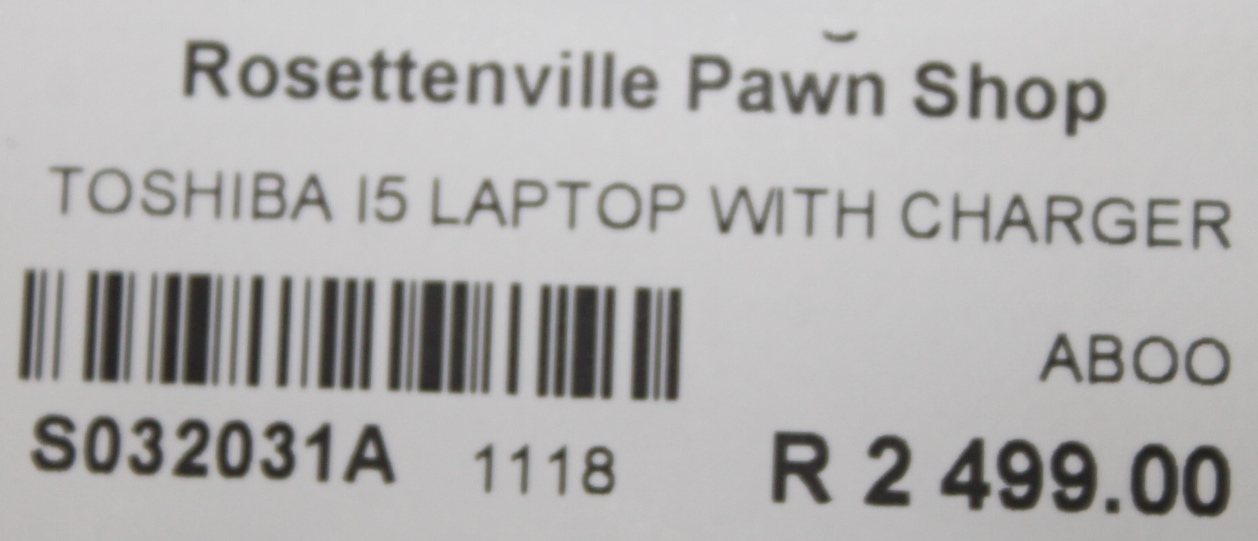 Toshiba I5 laptop with charger S032031A #Rosettenvillepawnshop