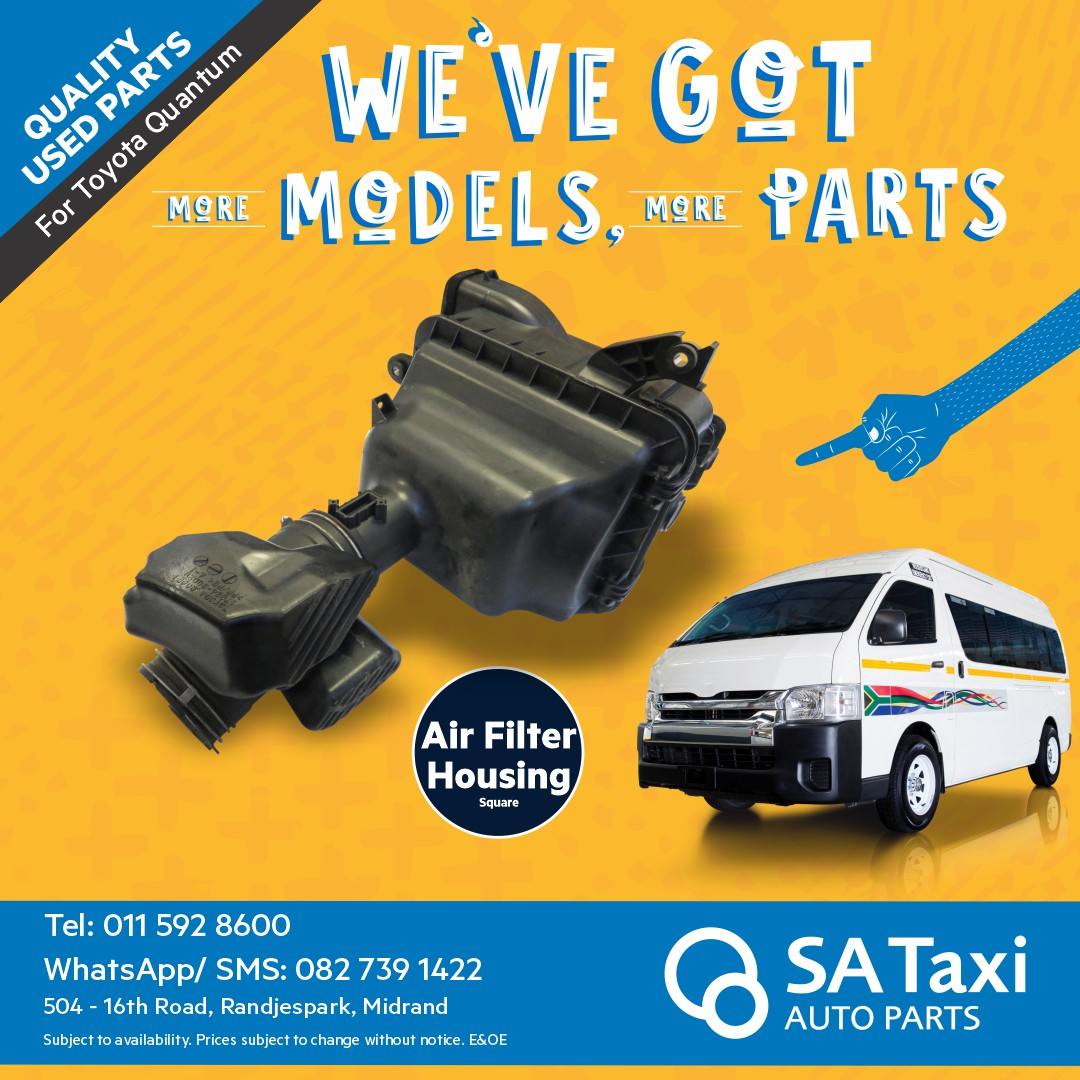 Air Filter Housing - square for Toyota Quantum - SA Taxi Auto Parts quality used spares