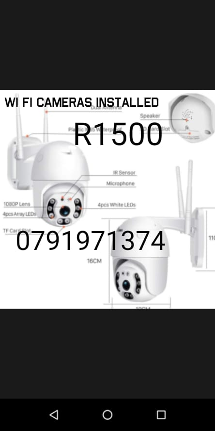 Wifi cameras for indoor and out door use
