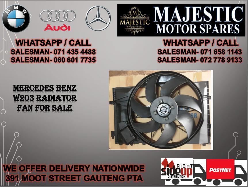 Mercedes benz W203 radiator fan for sale
