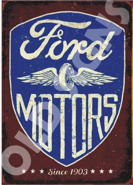 Vintage Car Metal Signs