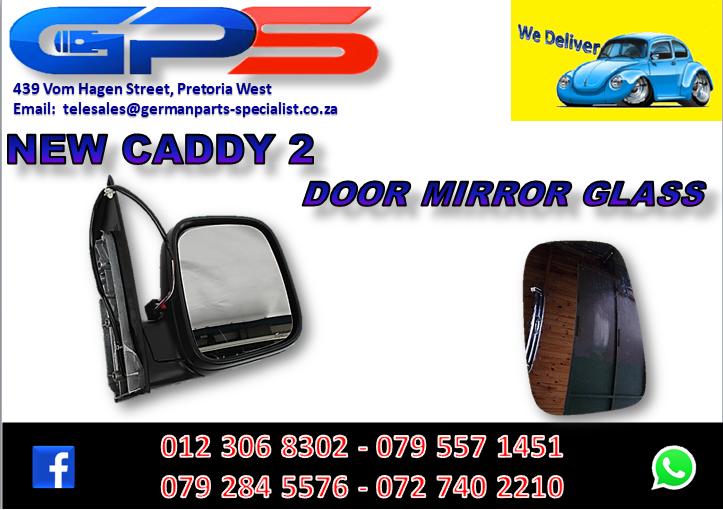 New VW Caddy 2 Door Mirror Glass for Sale