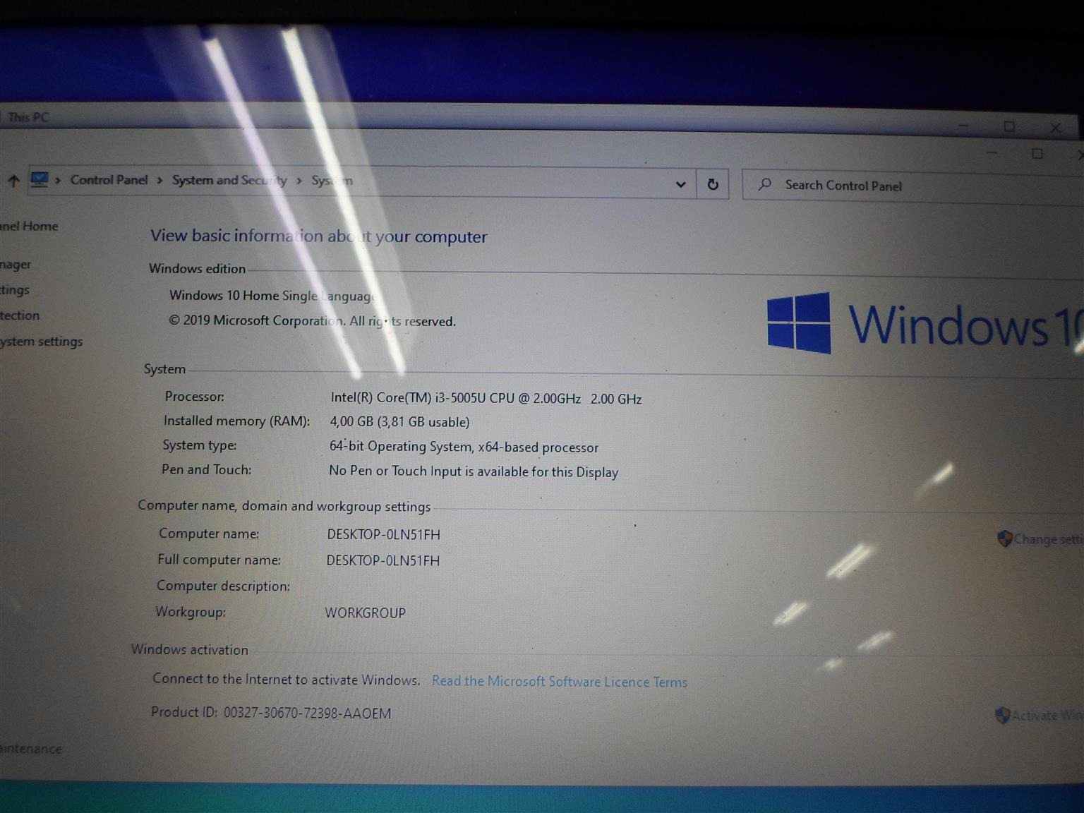 Laptop Acer i3