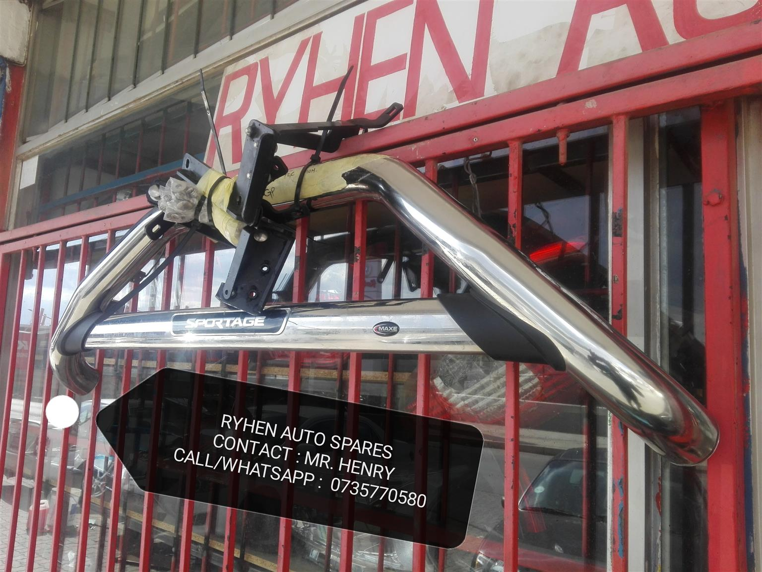 Kia sportage front bullbar with brackets (Complete) Latest design.