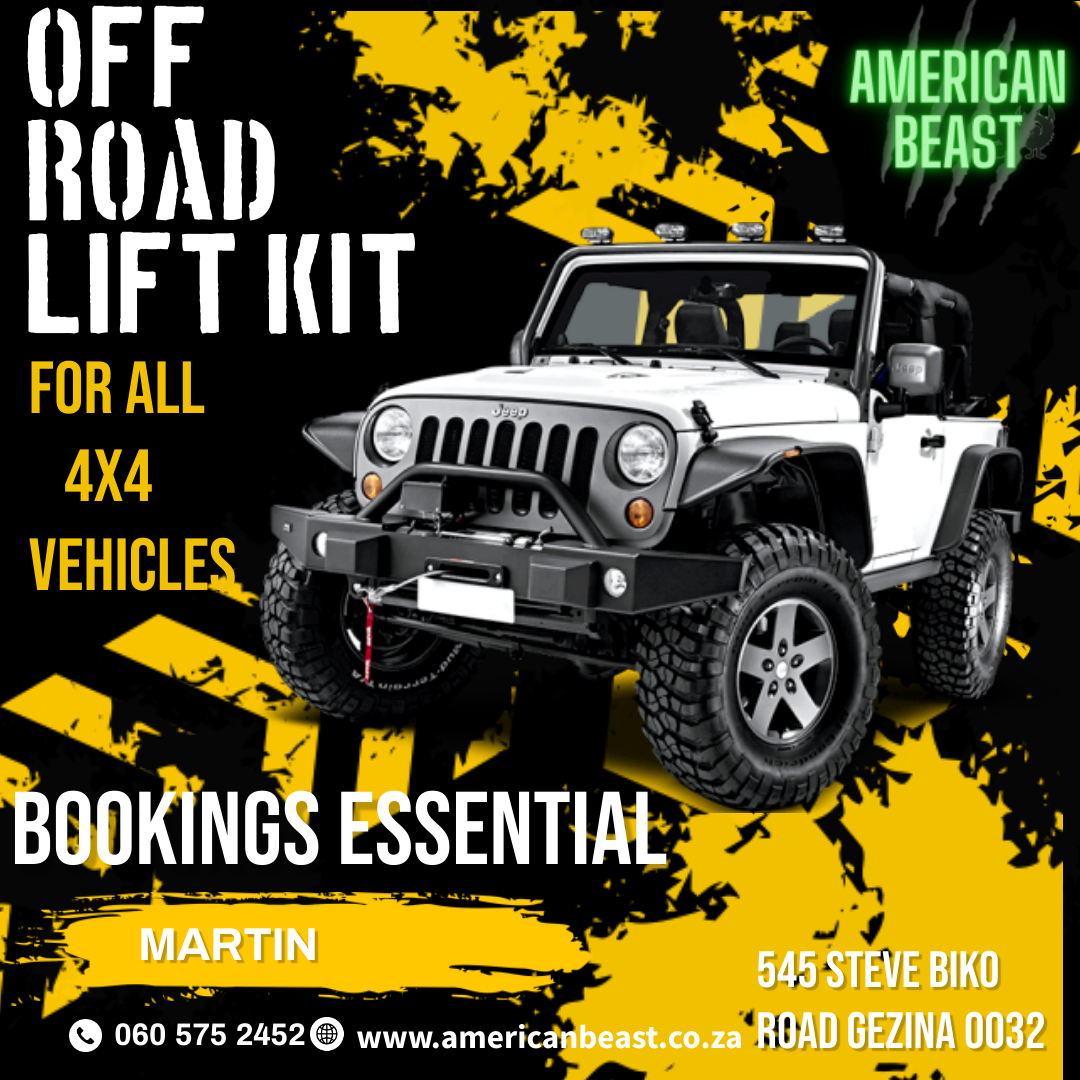 Off Road lift kits for all 4x4 vehicles now available
