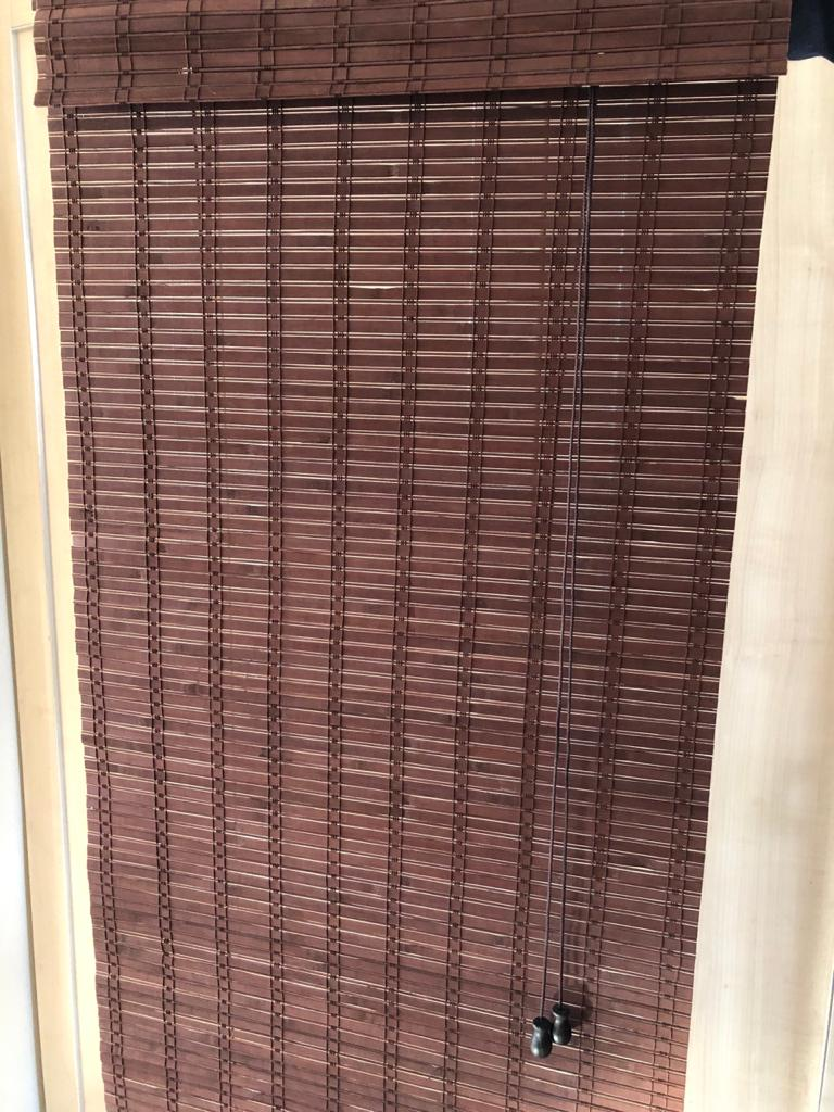 Bamboo roll up blind - 60cm wide and 130cm long