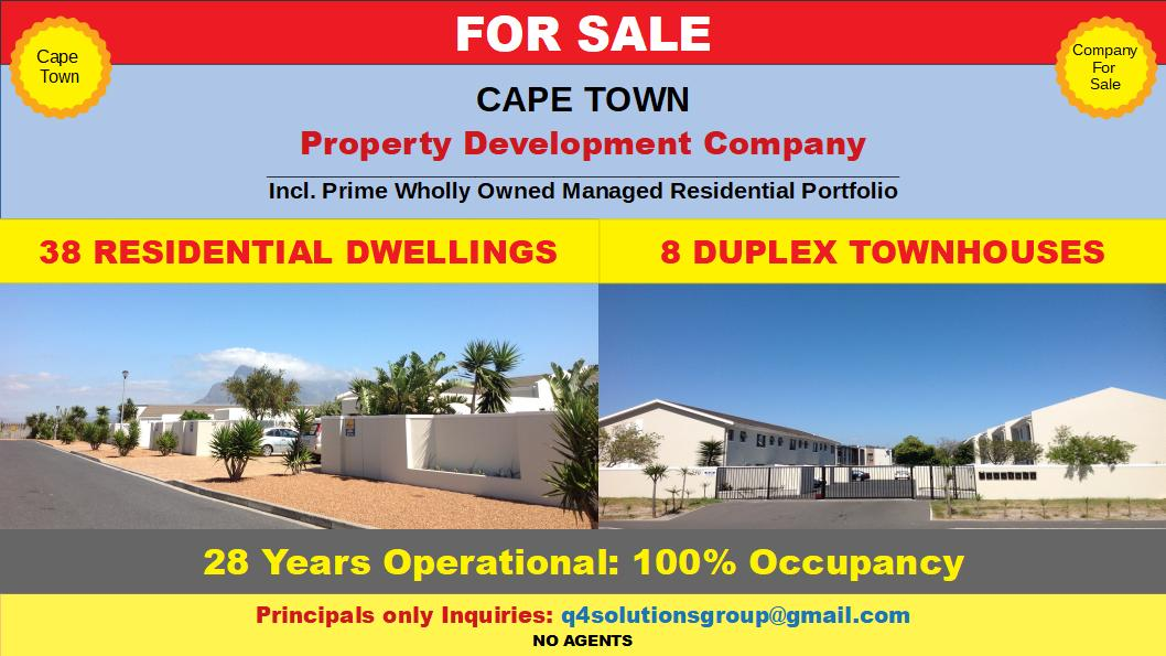 PROPERTY COMPANY WITH OWN TOWNHOUSES FOR SALE