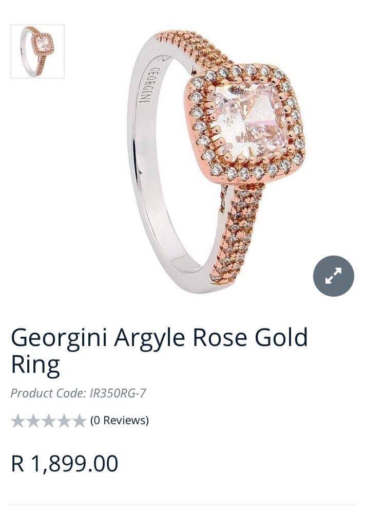 Georgini Rose Gold Ring