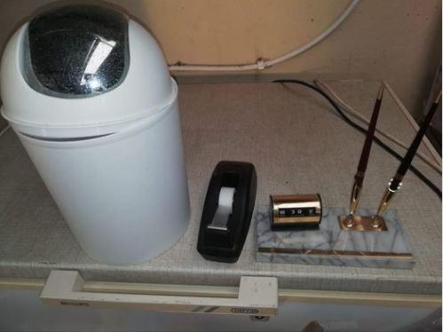 Office bin office pens tape dispenser