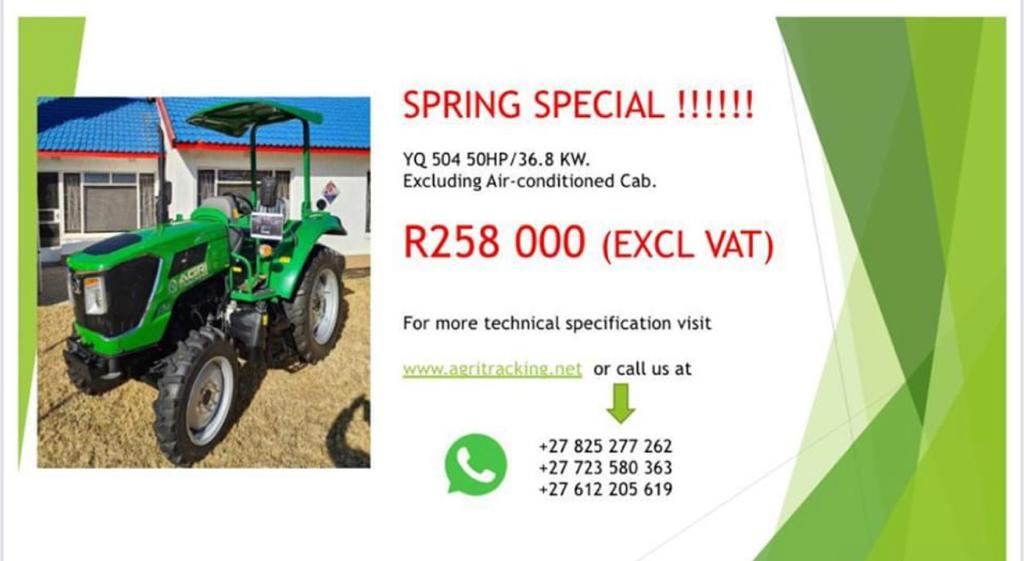 Affordable tractors for sale with different ranges of kilowatts & horsepower